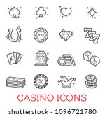 casino vector icons set.... | Shutterstock .eps vector #1096721780