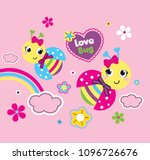 sweet love bug vector... | Shutterstock .eps vector #1096726676