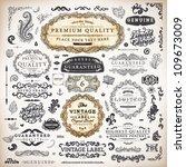 vector set  calligraphic... | Shutterstock .eps vector #109673009