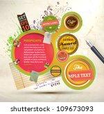 vintage web design template... | Shutterstock .eps vector #109673093