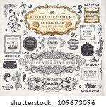 vector set  calligraphic... | Shutterstock .eps vector #109673096