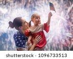 patriotic holiday. happy kid ... | Shutterstock . vector #1096733513