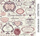 vector set of calligraphic... | Shutterstock .eps vector #109673396