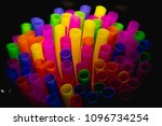 colorful drinking straws | Shutterstock . vector #1096734254