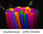 colorful drinking straws | Shutterstock . vector #1096734260