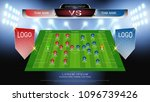 football or soccer starting... | Shutterstock .eps vector #1096739426