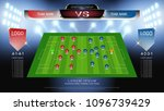 football or soccer starting... | Shutterstock .eps vector #1096739429