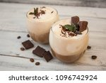 iced mocha coffee with whip... | Shutterstock . vector #1096742924