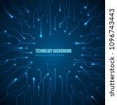 circuit hardware texture.... | Shutterstock .eps vector #1096743443