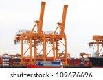 port crane | Shutterstock . vector #109676696