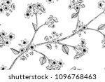 seamless flower pattern... | Shutterstock .eps vector #1096768463