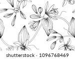 seamless flower pattern... | Shutterstock .eps vector #1096768469
