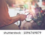 woman typing text message on... | Shutterstock . vector #1096769879