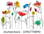 vector background with drawing... | Shutterstock .eps vector #1096770890