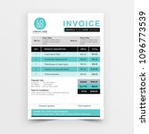 invoice template vector design. ... | Shutterstock .eps vector #1096773539