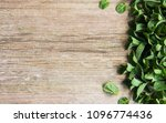 fresh green mint on a old... | Shutterstock . vector #1096774436