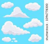 cartoon clouds in the sky.... | Shutterstock .eps vector #1096778300