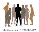 coaching sport game | Shutterstock .eps vector #1096782449
