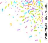 sprinkles grainy. sweet... | Shutterstock .eps vector #1096783388
