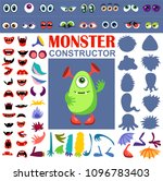 make a monster icons set  with... | Shutterstock .eps vector #1096783403