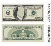 one hundred dollar bill. 100... | Shutterstock .eps vector #1096787093