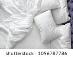 comfortable bed with white... | Shutterstock . vector #1096787786