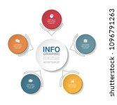vector infographic template for ... | Shutterstock .eps vector #1096791263