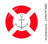 red lifebuoy ring ship anchor... | Shutterstock .eps vector #1096797884