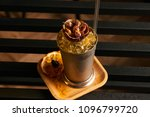 mariachi cocktail on bar table. ... | Shutterstock . vector #1096799720