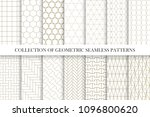collection of geometric... | Shutterstock .eps vector #1096800620