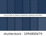 collection of simple seamless...   Shutterstock .eps vector #1096800674