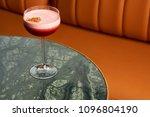 classical katana cocktail on... | Shutterstock . vector #1096804190