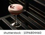 classical katana cocktail on... | Shutterstock . vector #1096804460
