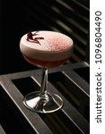 classical katana cocktail on... | Shutterstock . vector #1096804490