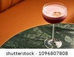 classical katana cocktail on... | Shutterstock . vector #1096807808
