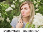 girl on a background of lilac | Shutterstock . vector #1096808264
