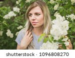 girl on a background of lilac | Shutterstock . vector #1096808270