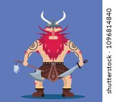 funny fantasy strong angry... | Shutterstock .eps vector #1096814840