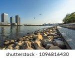 dalian city waterfront downtown ... | Shutterstock . vector #1096816430