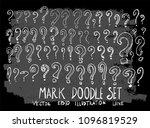 hand drawn sketch doodle vector ... | Shutterstock .eps vector #1096819529