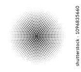 circular halftone pattern ... | Shutterstock .eps vector #1096835660