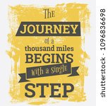 the journey of a thousand miles ... | Shutterstock .eps vector #1096836698