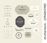 vintage element banner label...   Shutterstock .eps vector #1096842980