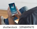 sms messaging communication... | Shutterstock . vector #1096849670