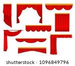 flat vector set of various... | Shutterstock .eps vector #1096849796