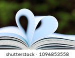 heart shape of paper book pages ... | Shutterstock . vector #1096853558