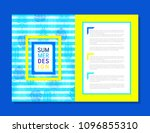 unique concept brochure design | Shutterstock .eps vector #1096855310