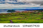 Small photo of Landscape with Monte Brasil volcano and Angra do Heroismo in Terceira island, Azores, Poetugal