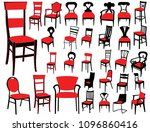 chair isolated vectors | Shutterstock .eps vector #1096860416