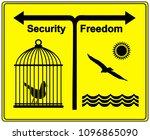 security versus freedom. the...   Shutterstock . vector #1096865090